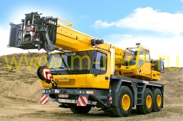 аренда автокрана 55 тонн Grove GMK 3055