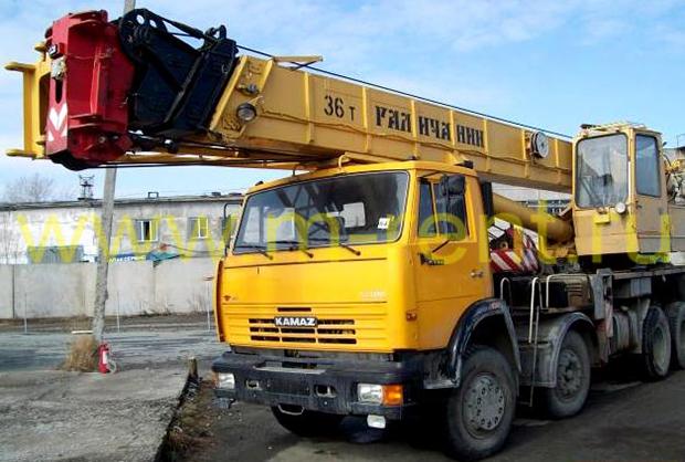 аренда автокрана 36 тонн Галичанин КС-55721