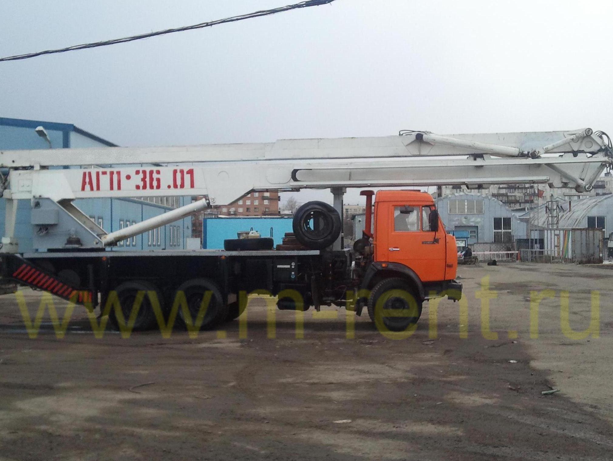аренда автовышки АГП-36, ПСС-141.36 36 метров