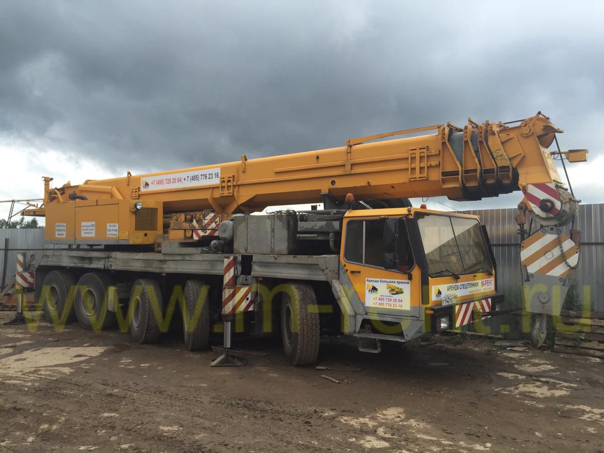 аренда автокрана 100 тонн Liebherr LTM 1100/1 в Москве