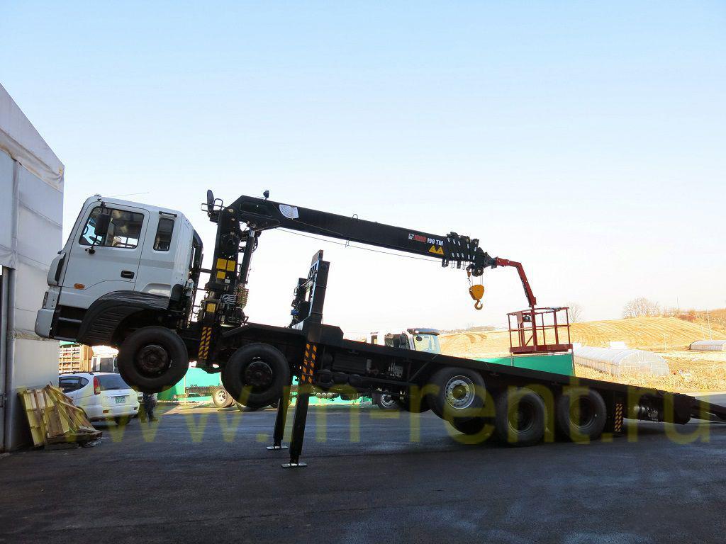 аренда манипулятора низкорамного 8 тонн на базе Hyundai HD-320