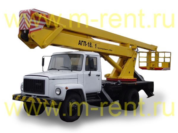 аренда автовышки 18 метров АГП-18.01 (ПСС-121.18)