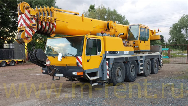 аренда автокрана 80 тонн Liebherr LTM 1080