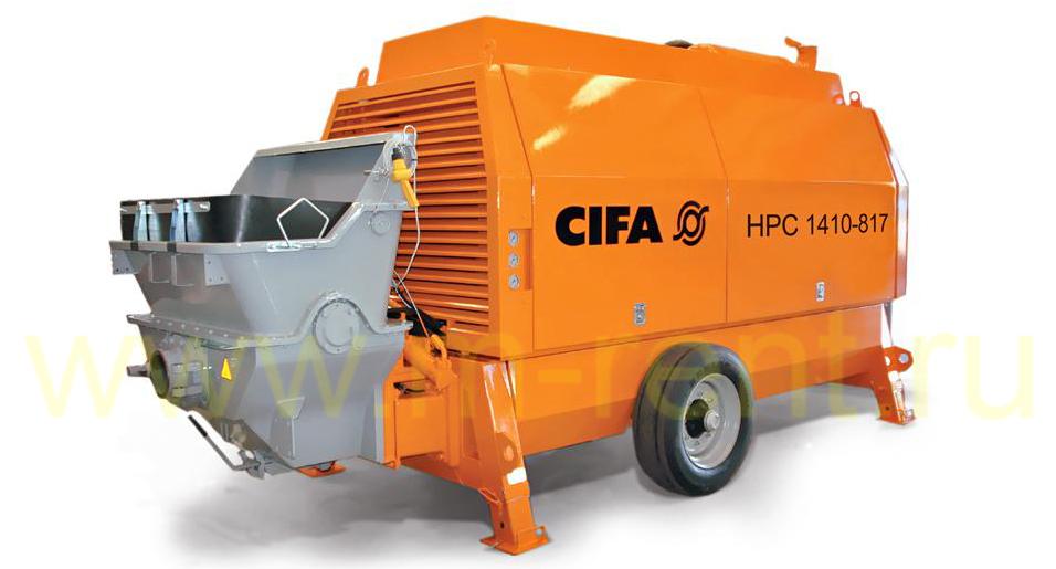 аренда стационарного бетононасоса большой производительности Cifa